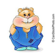 imagem, geans, ilustração, valentine, hamster, vetorial, caricatura