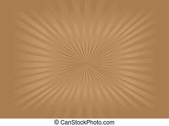 imagem, vetorial, -, sunburst