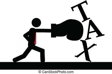 impostos, boxe