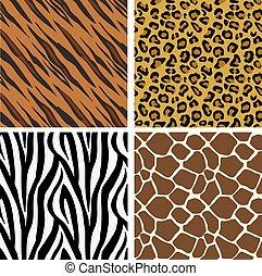 impressão, padrão, azulejos, seamless, animal