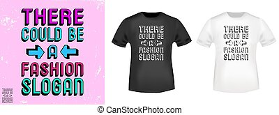 impressão, t, ser, could, selo, lá, slogan, moda, camisa