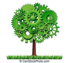 indústria, árvore, negócio, sucesso