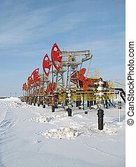 indústria, óleo, 4