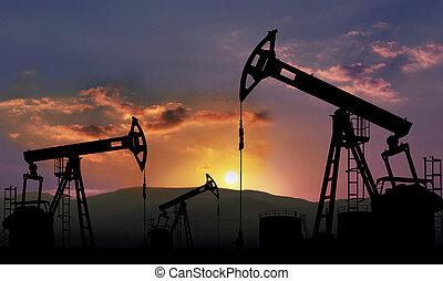 indústria, óleo