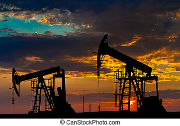 indústria, óleo, equipment., pumps.