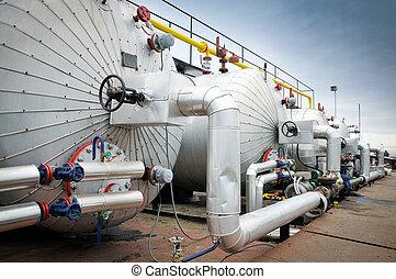 indústria, óleo, gás