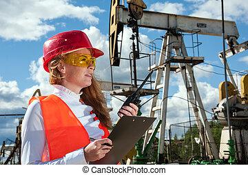 indústria, óleo, gás, engineer.