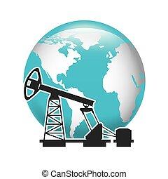indústria, óleo, negócio, ícone