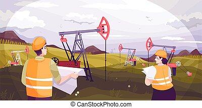 indústria, fundo, óleo