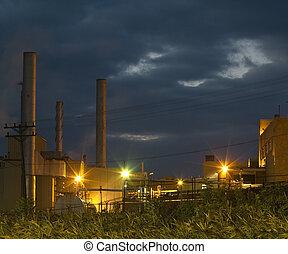 indústria, noturna