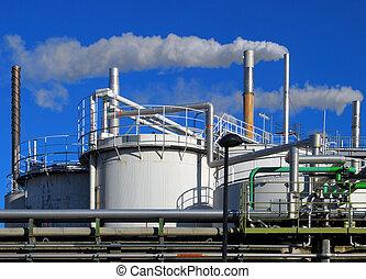 indústria, químico