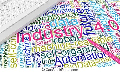 indústria, wordcloud, computador, 4, teclado, keywords