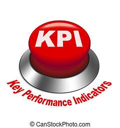 indicador, ), (, botão, ilustração, tecla, kpi, desempenho, 3d