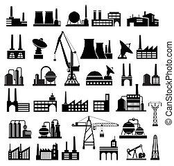 industrial, edifícios, 2