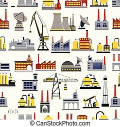 industrial, seamless, repetindo