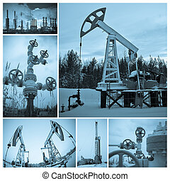 industry., óleo, extraction.