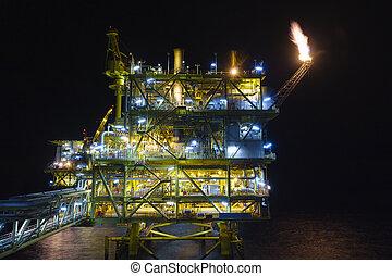industry., óleo, gás