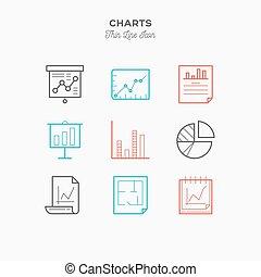 infographic, gráficos, ícones, jogo, gráficos, ilustração, cor, vetorial, magra, mais, linha