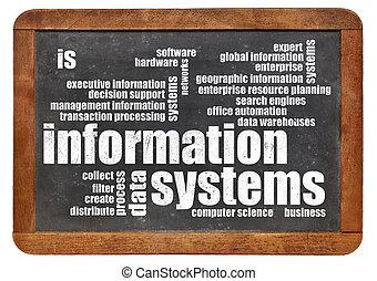 informação, palavra, sistemas, nuvem