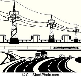 infrastructural, diferente, construção