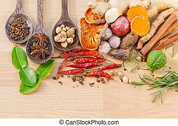 ingredients., alimento, cozinhar, -, tast, tempero
