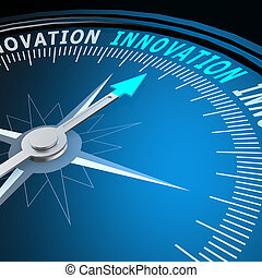 inovação, palavra, compasso