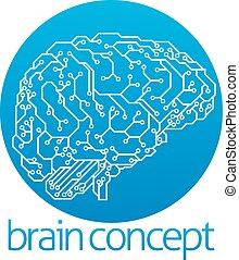 inteligência, desenho, artificial