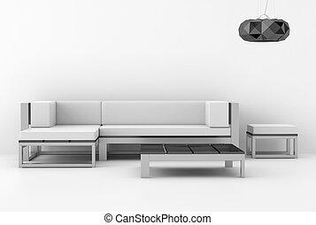 interior, branca, modernos