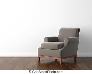 interior, marrom, branca, desenho, poltrona