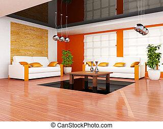 interior, sala, vida moderna