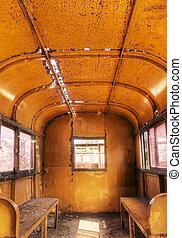interior, trem, antigas