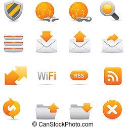  , internet, 07, amarela, ícones