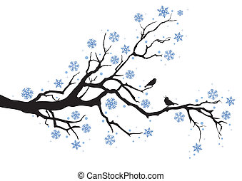 inverno árvore, ramo