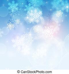 inverno, fundo, neve