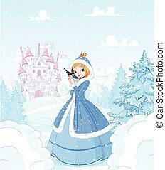 inverno, princesa