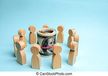 investir, negócio, project., financeiro, conferência, risco, estratégia, meta, team., planning., management., discussão, centro, teamwork., achievement., conceito, dólares