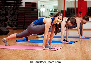 ioga, meu, classe, amor