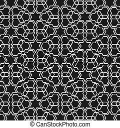 islamic, branca, pretas, padrão