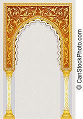 islamic, desenho, arco