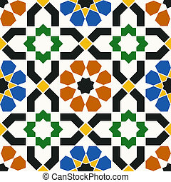 islamic, geomã©´ricas, seamless, padrão
