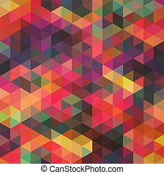 it., triangulo, backdrop., coloridos, padrão, topo, shapes., triângulos, experiência., fundo, hipster, mosaico, texto, lugar, geomã©´ricas, seu, fundo, retro
