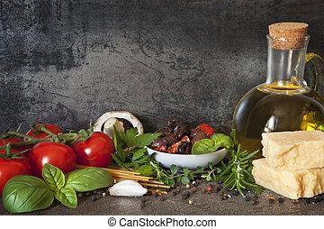 italiano, fundo, alimento