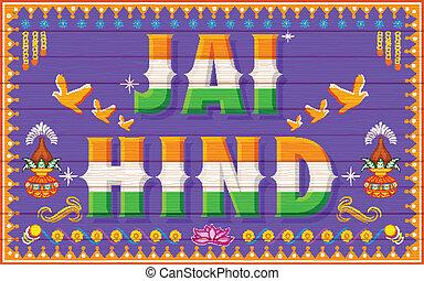 jai, (victory, india), hind