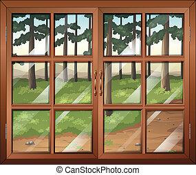 janela, glasspanes, claro