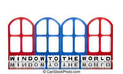 janela, mundo