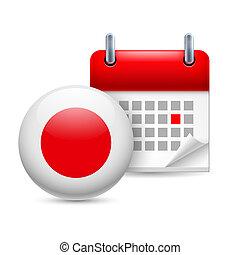 japão, nacional, dia, ícone