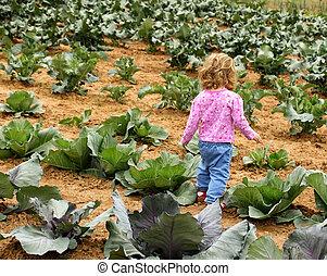 jardim, criança