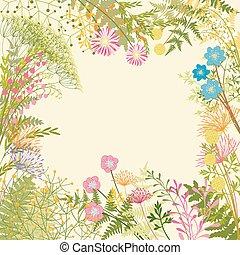 jardim flor, coloridos, springtime, fundo, partido