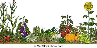 jardim vegetal, cama