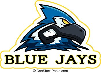 jay azul, caricatura, mascote